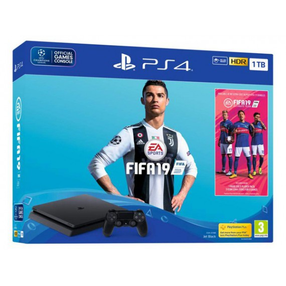 PS4 Sony +FIFA19 VOUCHER PS4 SLIM 1To