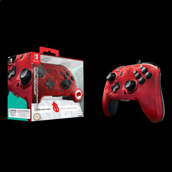 Accessoires Nintendo PDP Filiaire CAMOUFLAGE RED