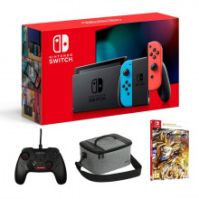 CONSOLE NINTENDO SWITCH NEON +JEU DRAGON BALL Z +BAG+MANETTE