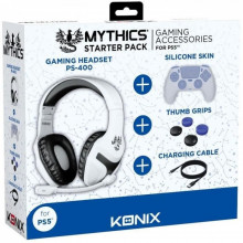STARTER PACK PS5 KONIX MYTHICS CASQUE+PROTEGE MAN